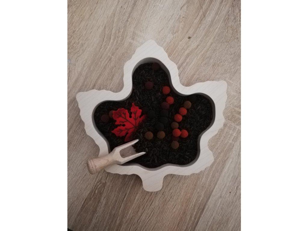 Dřevěný tácek - javorový  list