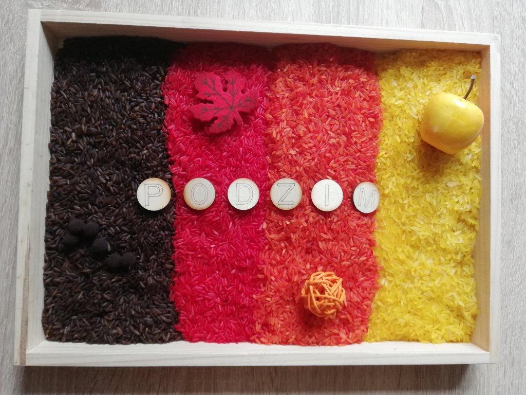 Duhová rýže - podzim
